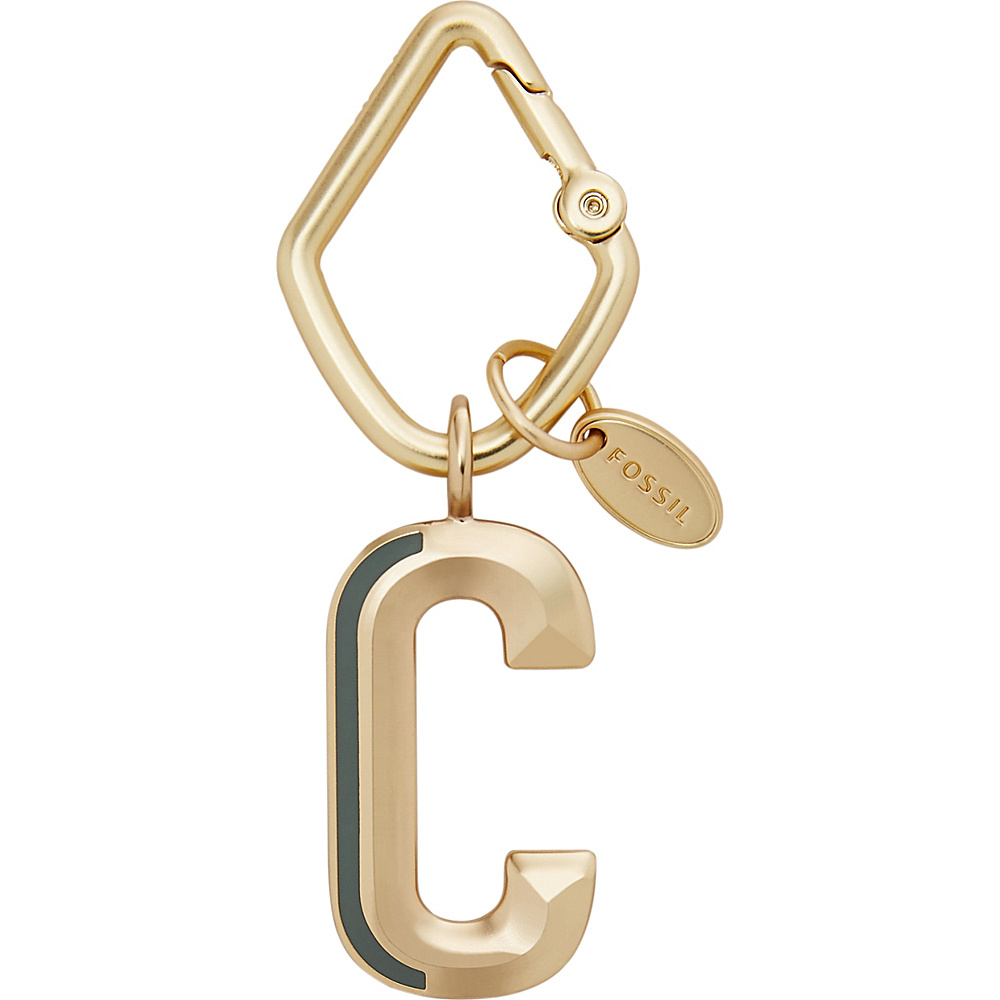 Fossil Letter C Keyfob Gold - Fossil Womens SLG Other - Women's SLG, Women's SLG Other