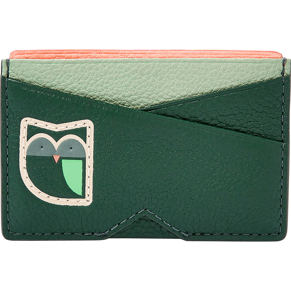 Fossil Card Case Alpine Green - Fossil Womens Wallets - Women's SLG, Women's Wallets