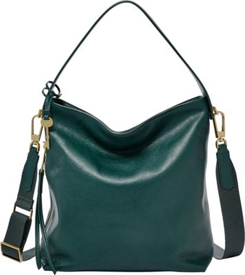 Fossil Maya Small Hobo Alpine Green - Fossil Leather Handbags
