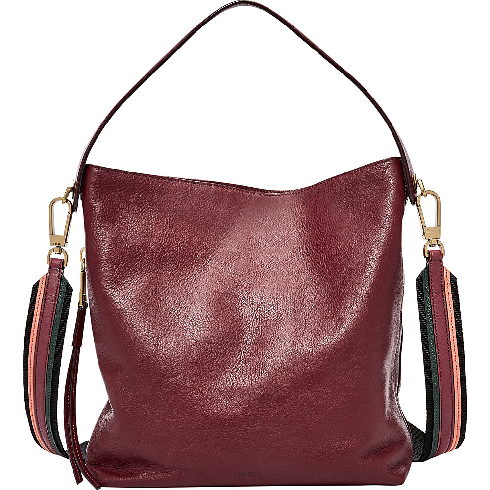 Fossil Maya Small Hobo Cabernet - Fossil Leather Handbags - Handbags, Leather Handbags
