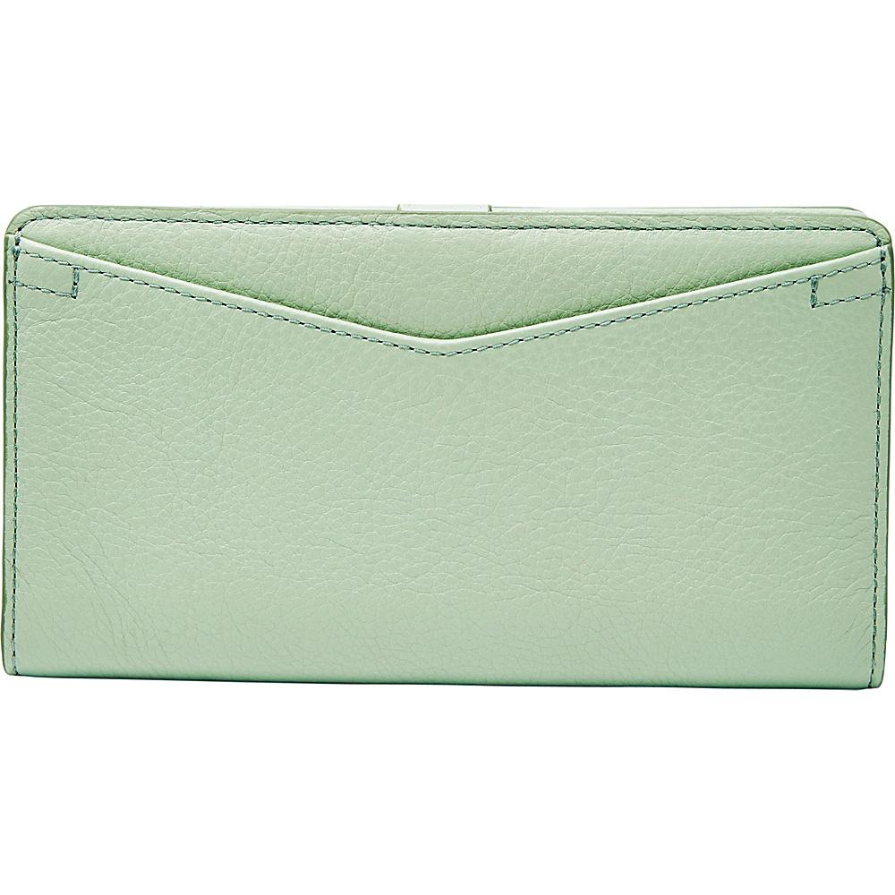 Fossil Caroline RFID Slim Bifold Wallet Misty Jade - Fossil Womens Wallets - Women's SLG, Women's Wallets