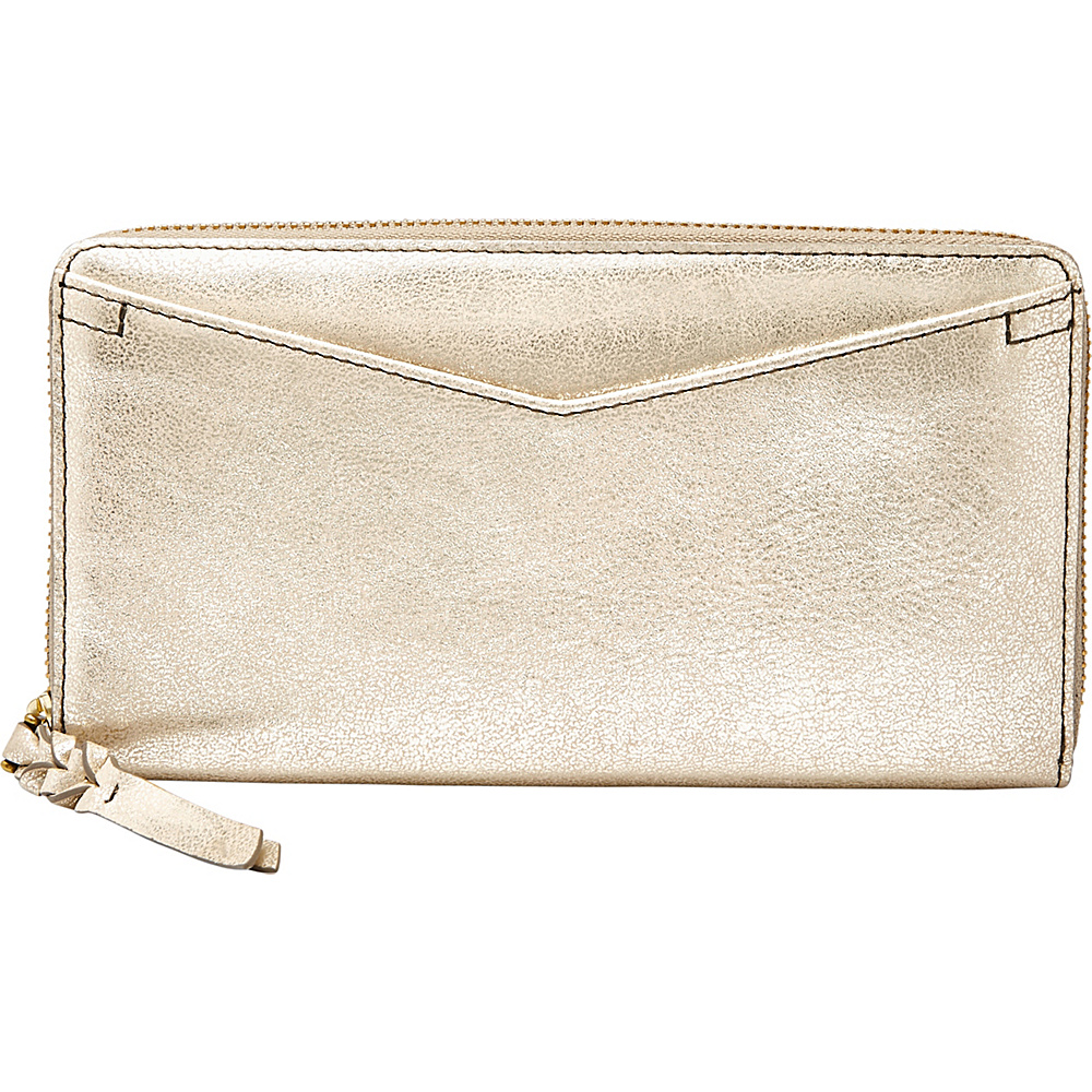 Fossil Caroline RFID Zip Around Wallet Gold - Fossil Womens Wallets - Women's SLG, Women's Wallets