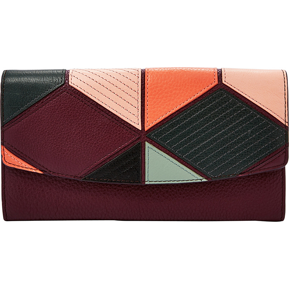 Fossil Travel Wallet Multi Patchwork - Fossil Travel Wallets - Travel Accessories, Travel Wallets