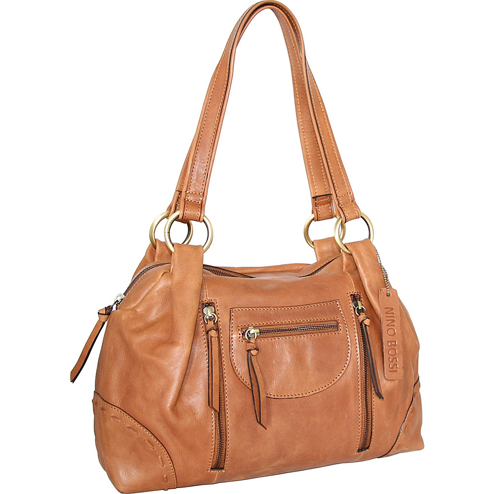Nino Bossi Emery Satchel Nut - Nino Bossi Leather Handbags - Handbags, Leather Handbags