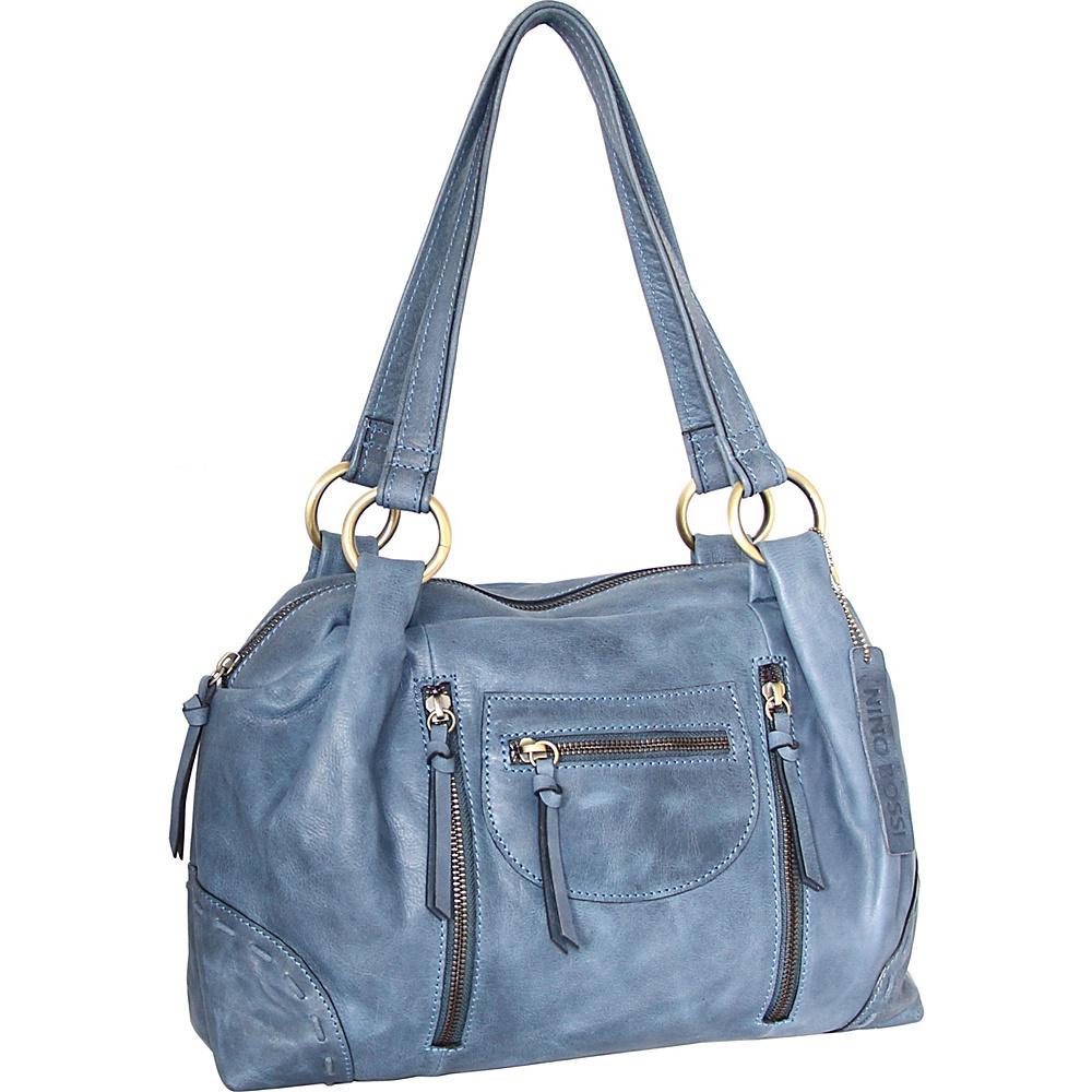 Nino Bossi Emery Satchel Denim - Nino Bossi Leather Handbags - Handbags, Leather Handbags