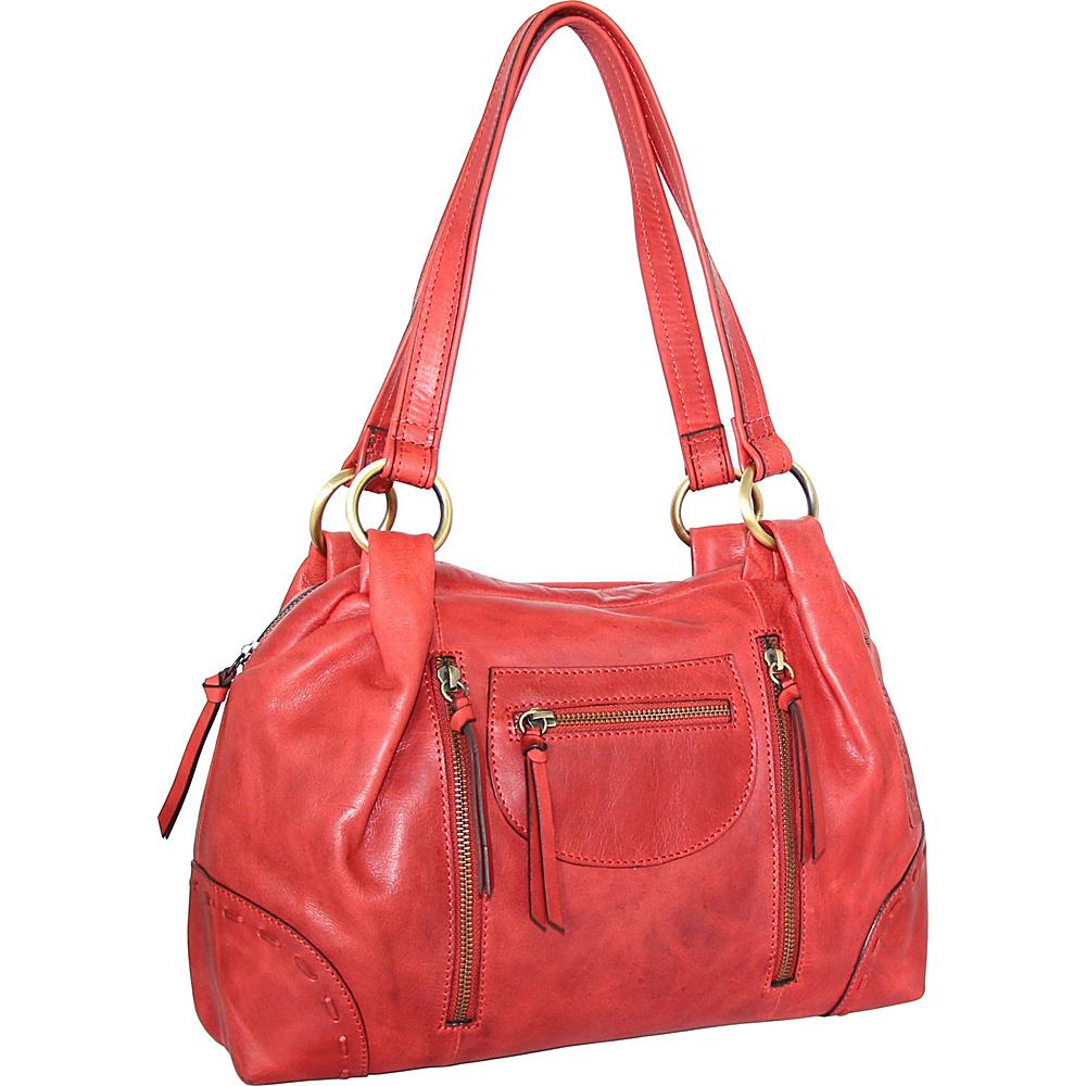 Nino Bossi Emery Satchel Red - Nino Bossi Leather Handbags - Handbags, Leather Handbags