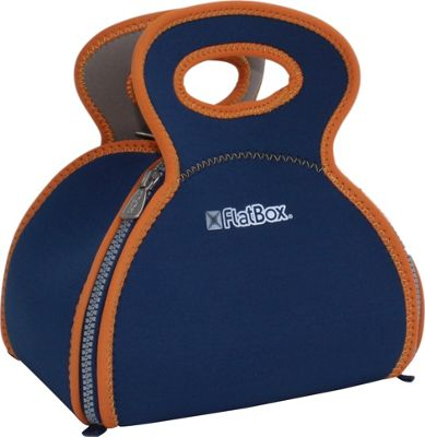 FlatBox Bento Placemat Lunch Bag Royal Blue/Orange Brown/Silver - FlatBox Travel Coolers
