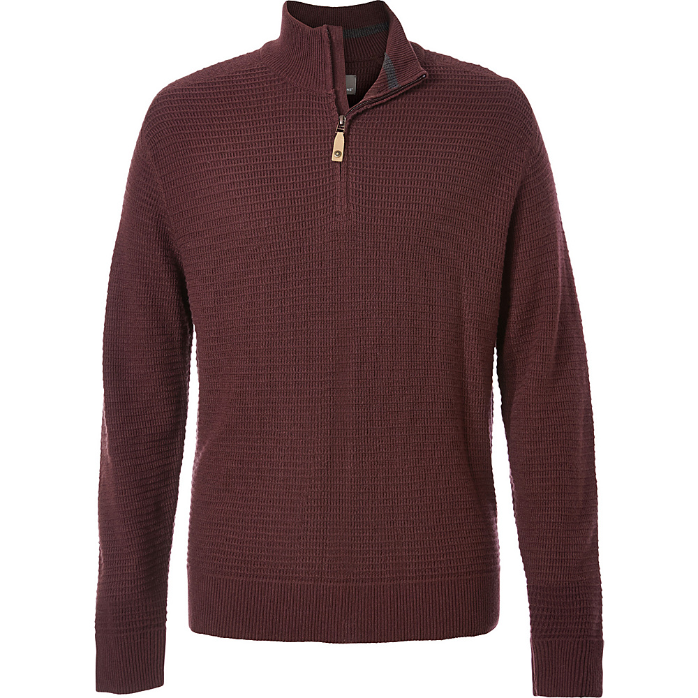 Royal Robbins Mens All Season Merino Thermal 1/4 Zip XXL - Red Rock - Royal Robbins Mens Apparel - Apparel & Footwear, Men's Apparel