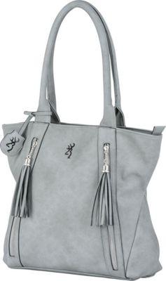 Browning Alexandria Concealed Carry Shoulder Bag Grey - Browning Leather Handbags