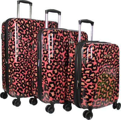 Isaac Mizrahi Gabby 3 Piece Hardside Spinner Luggage Set Pink - Isaac Mizrahi Luggage Sets