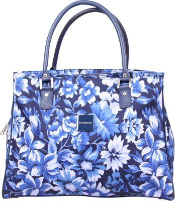 Isaac Mizrahi Lantana Deluxe Shopper Tote Blue - Isaac Mizrahi Luggage Totes and Satchels
