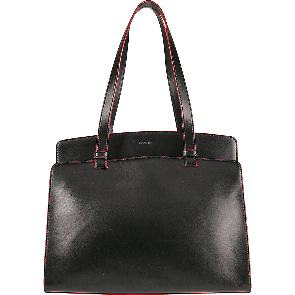 Lodis Audrey Jana Work Tote - Discontinued Colors Black/ Red - Lodis Leather Handbags - Handbags, Leather Handbags