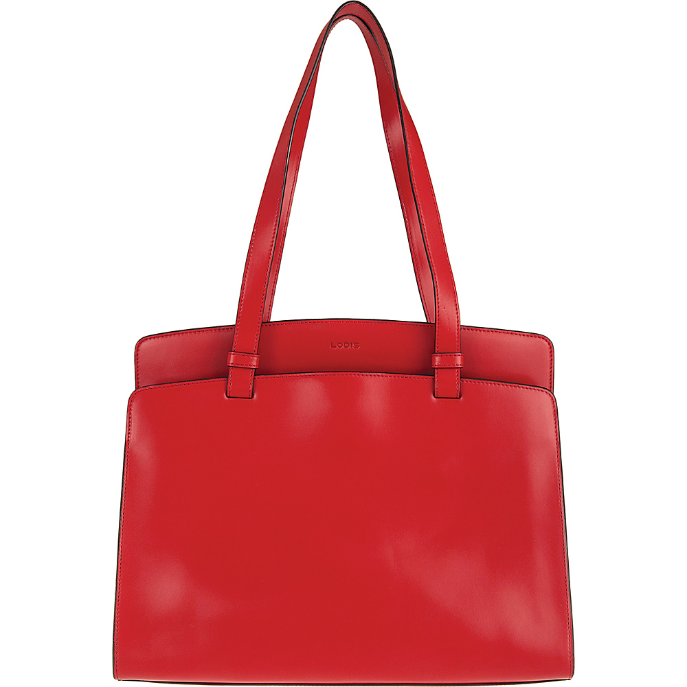 Lodis Audrey Jana Work Tote - Discontinued Colors Red/Black - Lodis Leather Handbags - Handbags, Leather Handbags