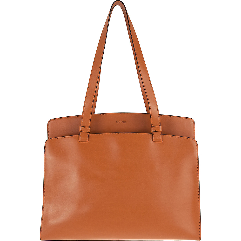 Lodis Audrey Jana Work Tote - Discontinued Colors Toffee/Chocolate - Lodis Leather Handbags - Handbags, Leather Handbags