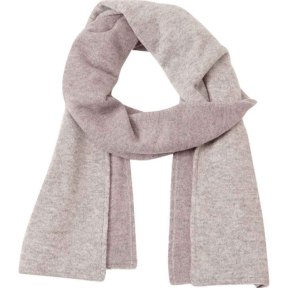 Kinross Cashmere 2Tone Scarf Thistle/Sterling - Kinross Cashmere Hats/Gloves/Scarves - Fashion Accessories, Hats/Gloves/Scarves