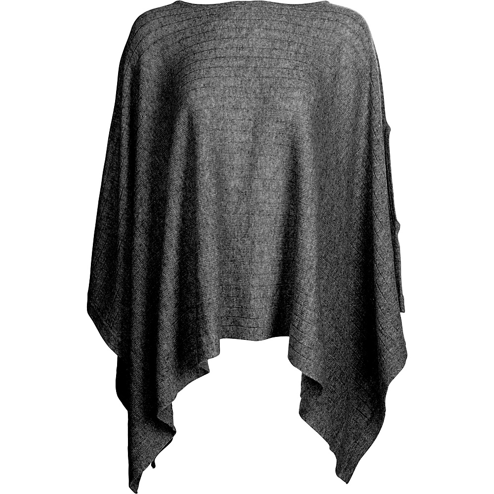Kinross Cashmere Rib Pullover Poncho One Size  - Charcoal - Kinross Cashmere Womens Apparel - Apparel & Footwear, Women's Apparel
