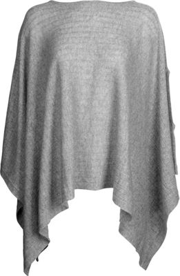 Kinross Cashmere Rib Pullover Poncho One Size  - Sterling - Kinross Cashmere Women's Apparel
