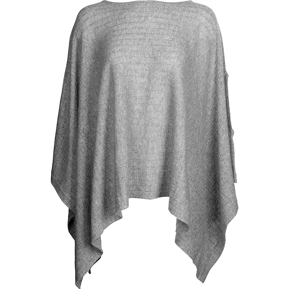 Kinross Cashmere Rib Pullover Poncho One Size  - Sterling - Kinross Cashmere Womens Apparel - Apparel & Footwear, Women's Apparel
