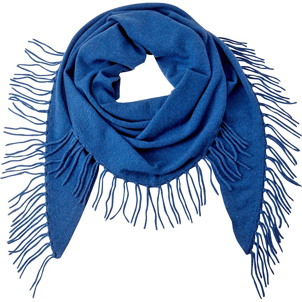 Kinross Cashmere Fringe Triangle Scarf Chamonix - Kinross Cashmere Hats/Gloves/Scarves - Fashion Accessories, Hats/Gloves/Scarves