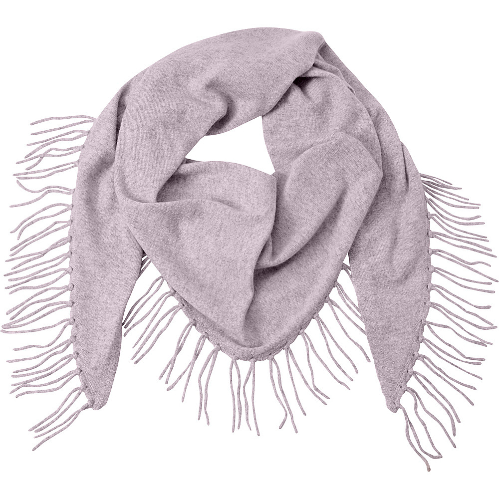 Kinross Cashmere Fringe Triangle Scarf Thistle - Kinross Cashmere Hats/Gloves/Scarves - Fashion Accessories, Hats/Gloves/Scarves