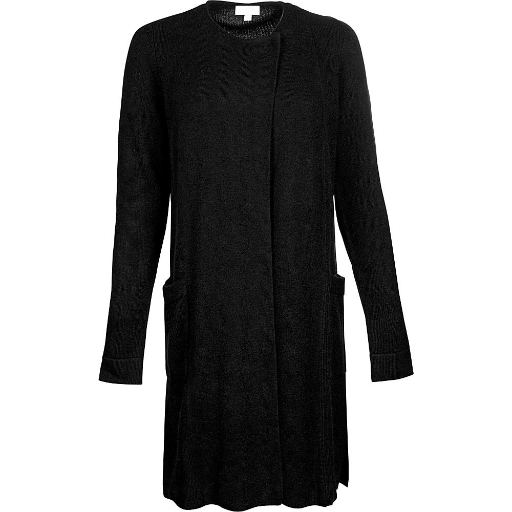 Kinross Cashmere Pocket Crew Cardigan XS - Black - Kinross Cashmere Womens Apparel - Apparel & Footwear, Women's Apparel