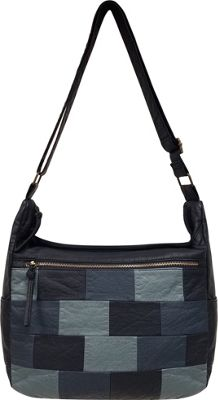 Bueno Patchwork Slouchy Hobo Denim Multi - Bueno Manmade Handbags