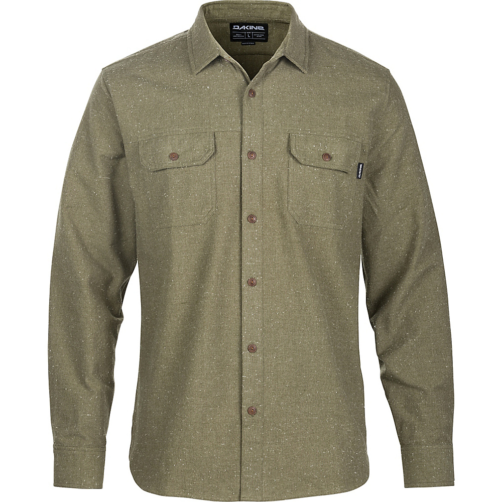 DAKINE Mens Ashland Flannel L - Tarmac - DAKINE Mens Apparel - Apparel & Footwear, Men's Apparel