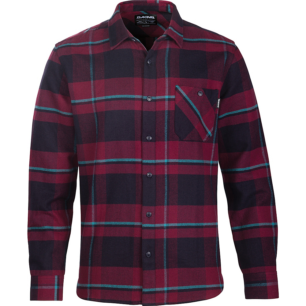 DAKINE Mens Edwin Flannel Shirt L - Rosewood - DAKINE Mens Apparel - Apparel & Footwear, Men's Apparel