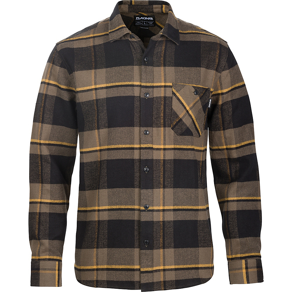 DAKINE Mens Edwin Flannel Shirt S - Tarmac - DAKINE Mens Apparel - Apparel & Footwear, Men's Apparel