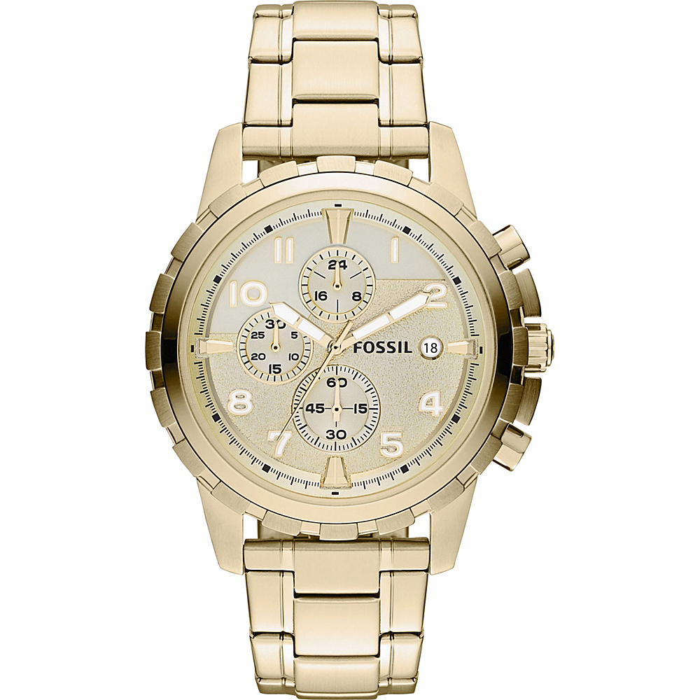 Fossil Dean Chronograph Gold-Tone Stainless Steel Watch Gold - Fossil Watches - Fashion Accessories, Watches