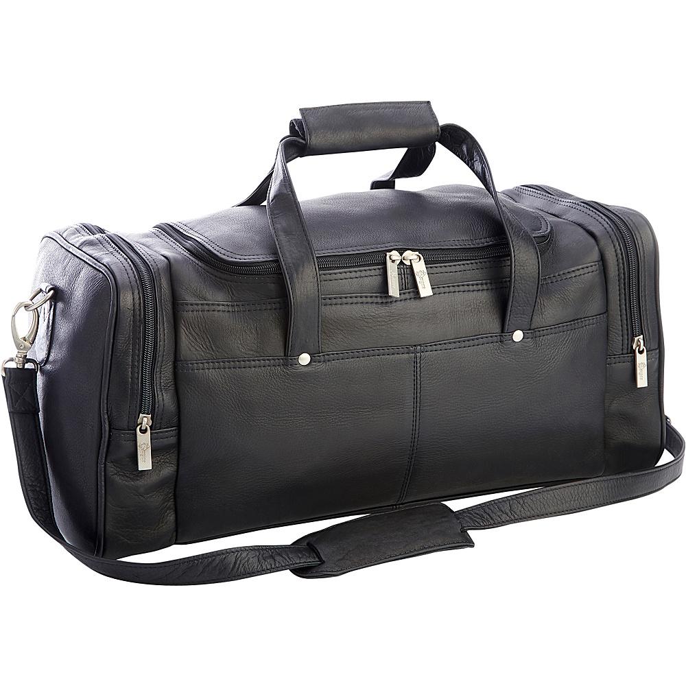 Royce Leather Colombian Leather Luxury Overnight Duffel Bag Black - Royce Leather Travel Duffels - Duffels, Travel Duffels