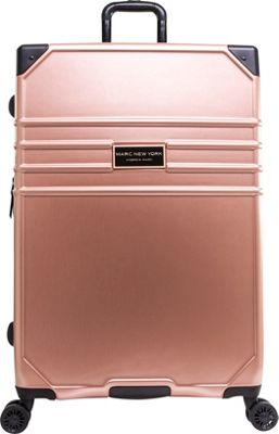 Marc New York Classic 28 inch Hardside Checked Spinner Luggage Rose Gold - Marc New York Hardside Checked