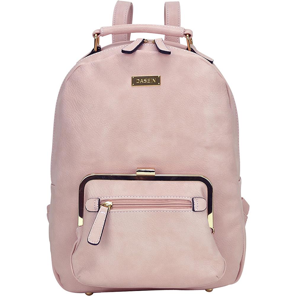 Dasein Front Twist Lock Pocket Backpack Pink - Dasein Manmade Handbags - Handbags, Manmade Handbags