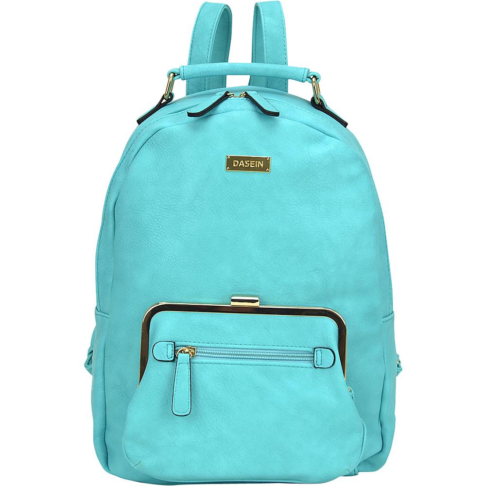 Dasein Front Twist Lock Pocket Backpack Turquoise - Dasein Manmade Handbags - Handbags, Manmade Handbags