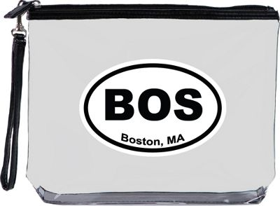 Squeeze Pod Destination Large Clear Travel Bag with Wrist Strap Boston - Squeeze Pod Travel Organizers