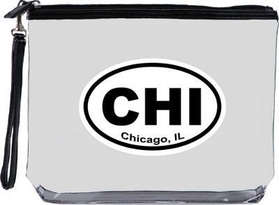 Squeeze Pod Destination Large Clear Travel Bag with Wrist Strap Chicago - Squeeze Pod Travel Organizers