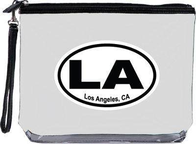 Squeeze Pod Destination Large Clear Travel Bag with Wrist Strap Los Angeles - Squeeze Pod Travel Organizers