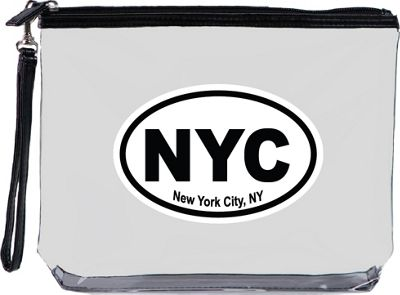 Squeeze Pod Destination Large Clear Travel Bag with Wrist Strap New York City - Squeeze Pod Travel Organizers