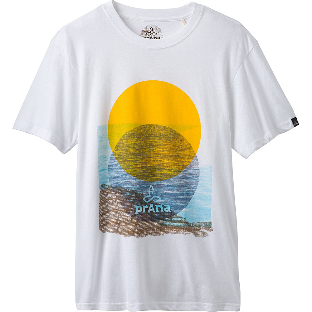 PrAna Wasser Tee XXL - White - PrAna Mens Apparel - Apparel & Footwear, Men's Apparel