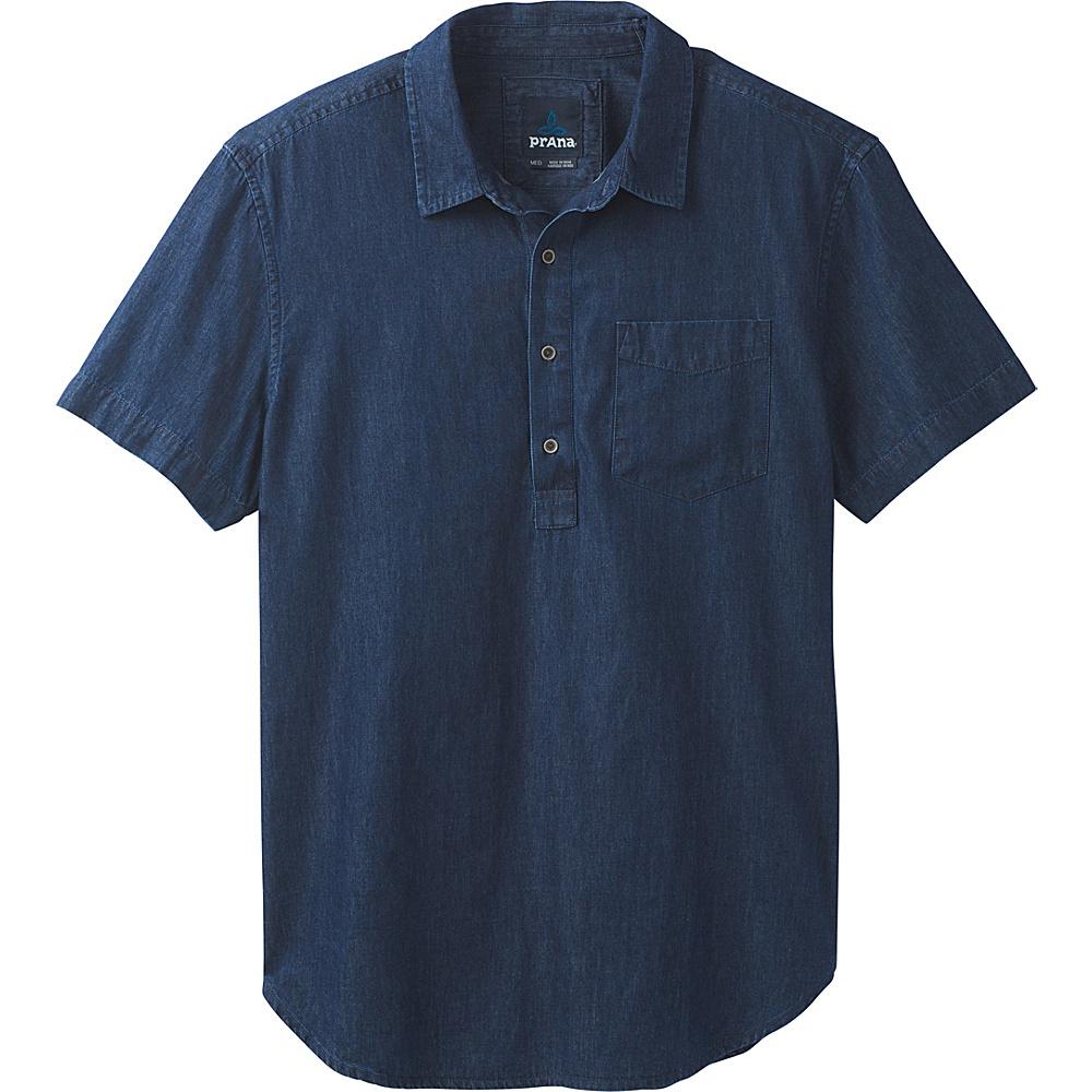 PrAna Brandt Short Sleeve Shirt M - Indigo - PrAna Mens Apparel - Apparel & Footwear, Men's Apparel