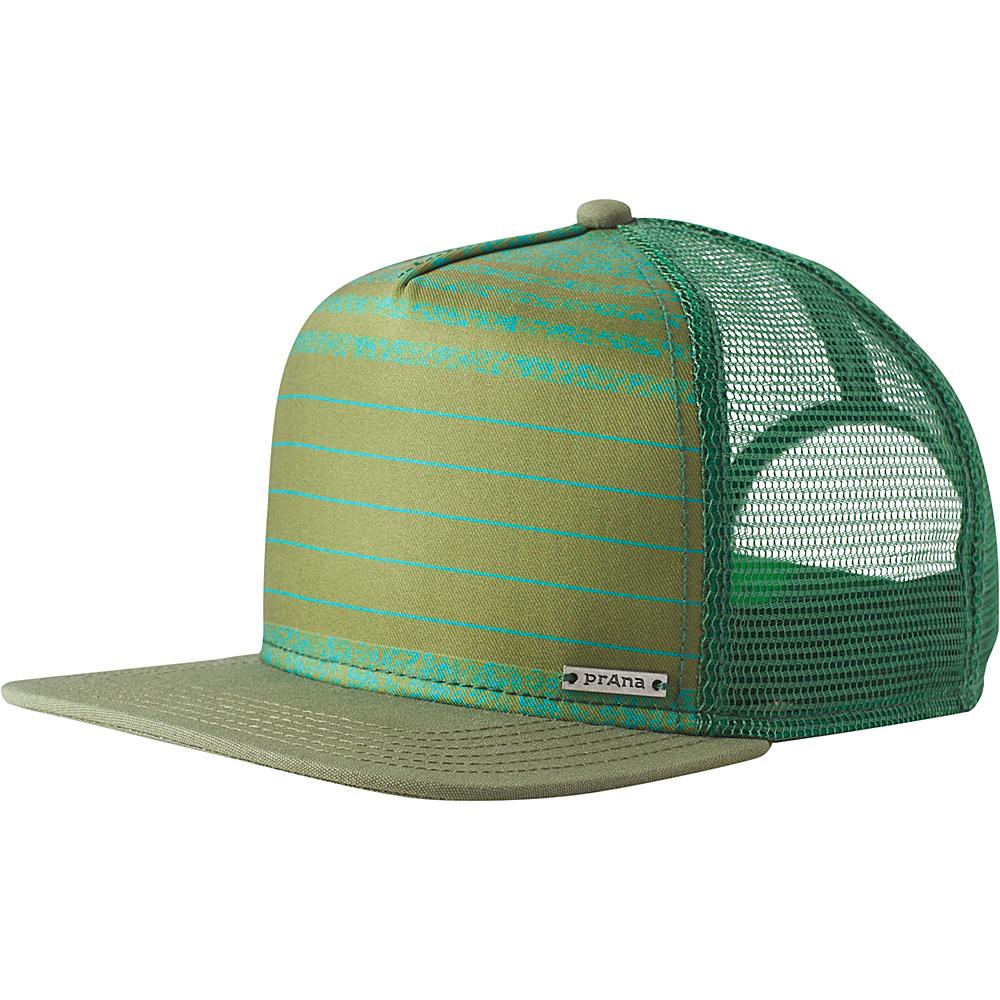 PrAna Vista Trucker One Size - Green Field Stripe - PrAna Hats/Gloves/Scarves - Fashion Accessories, Hats/Gloves/Scarves