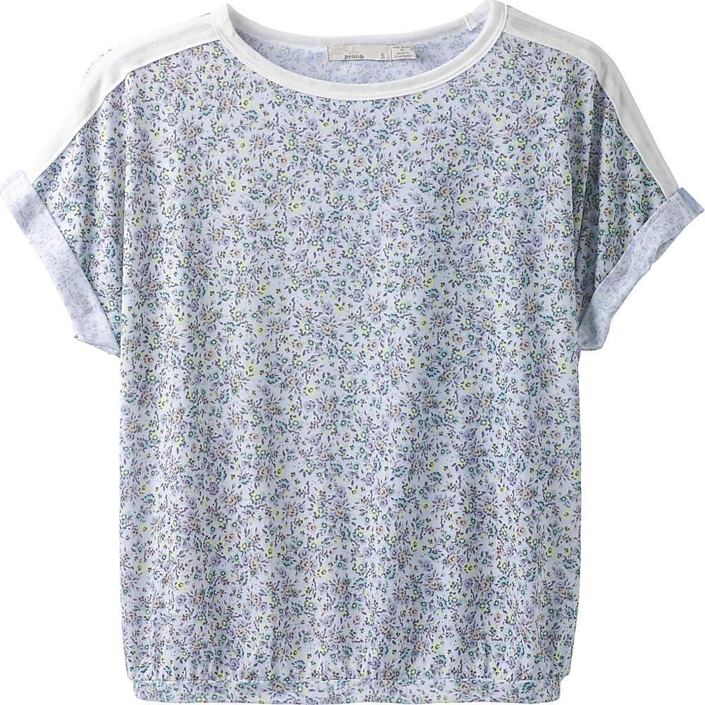 PrAna Etta Top XS - Titanium Blossom - PrAna Womens Apparel - Apparel & Footwear, Women's Apparel