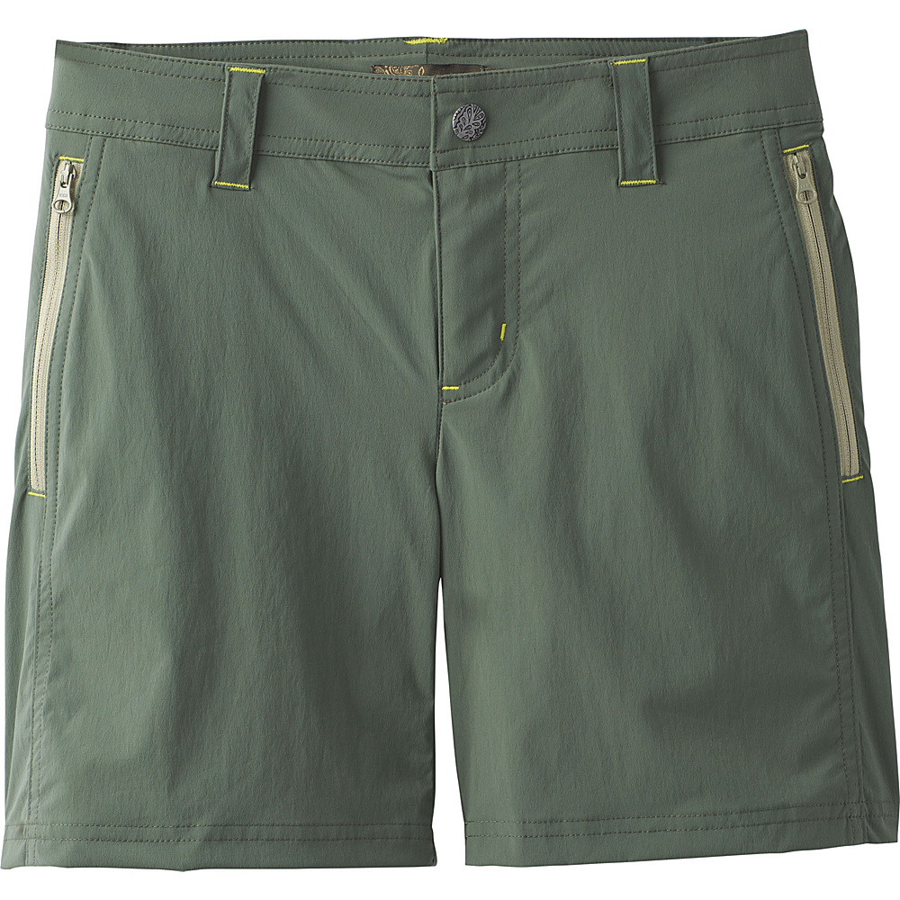 PrAna Aria Short 6 - Forest Green - PrAna Womens Apparel - Apparel & Footwear, Women's Apparel