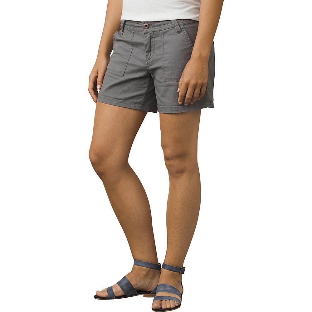 PrAna Tess Short - 5 Inseam 4 - Gravel - PrAna Womens Apparel - Apparel & Footwear, Women's Apparel