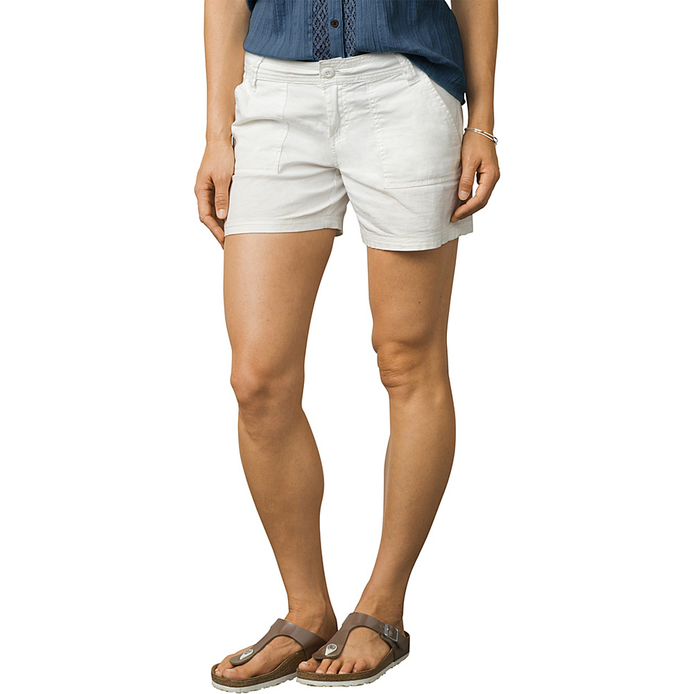 PrAna Tess Short - 5 Inseam 2 - White - PrAna Womens Apparel - Apparel & Footwear, Women's Apparel