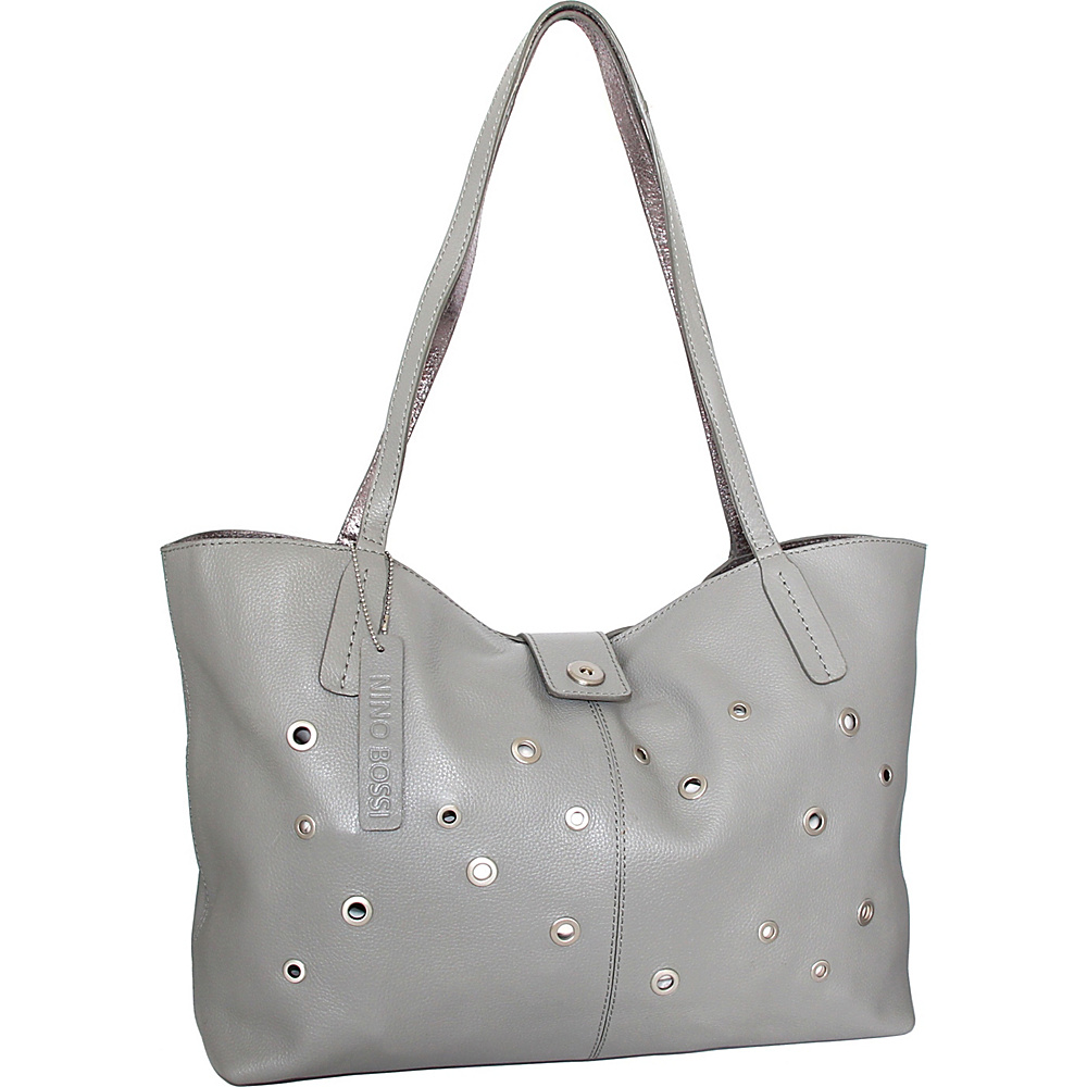 Nino Bossi Trudy Tote Stone - Nino Bossi Leather Handbags - Handbags, Leather Handbags