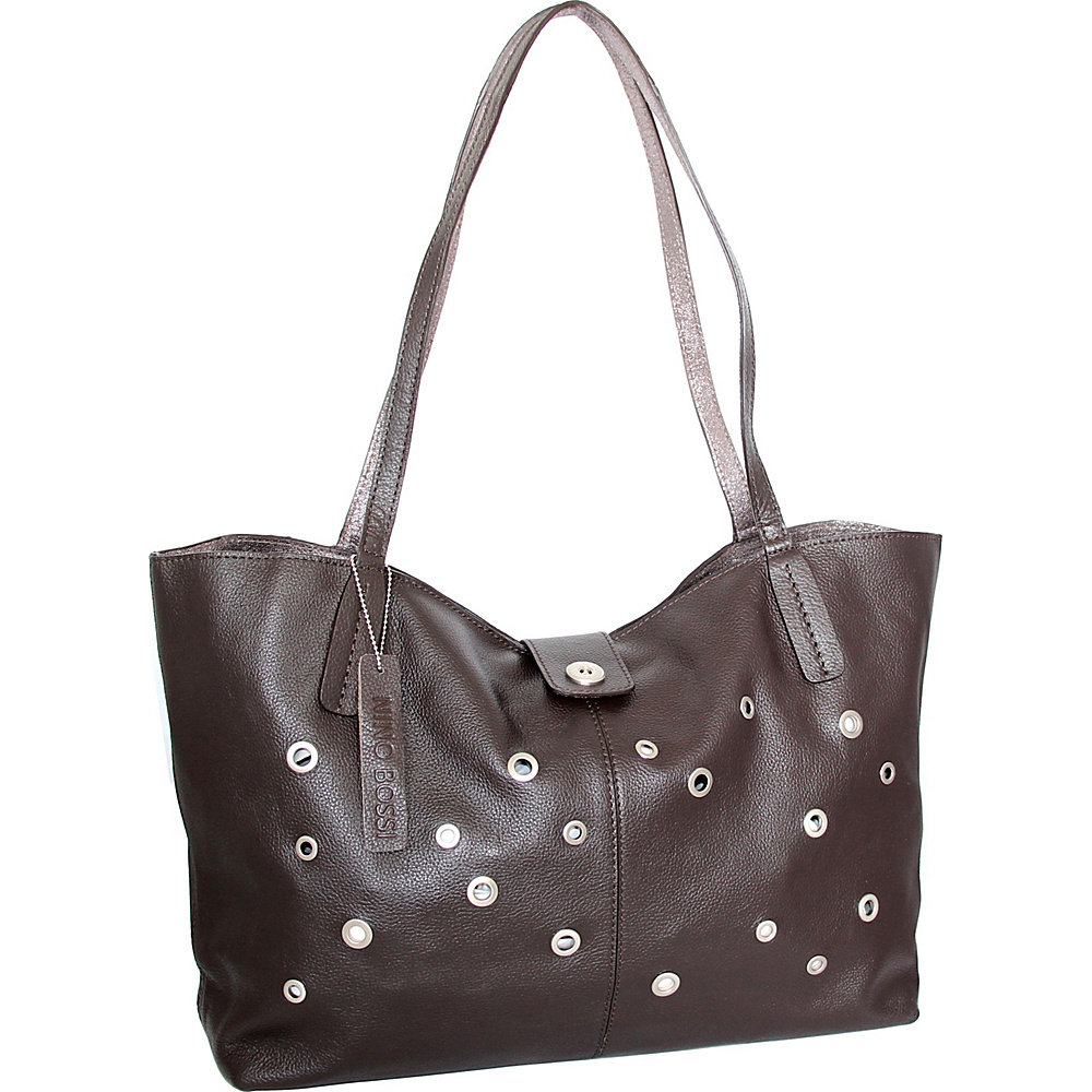 Nino Bossi Trudy Tote Chocolate - Nino Bossi Leather Handbags - Handbags, Leather Handbags