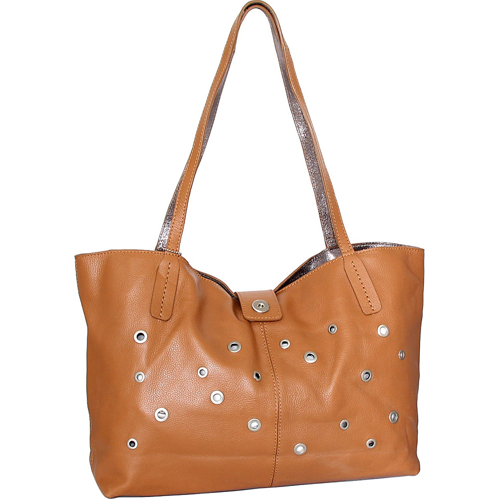Nino Bossi Trudy Tote Cognac - Nino Bossi Leather Handbags - Handbags, Leather Handbags