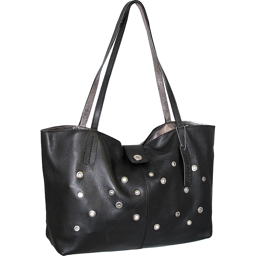 Nino Bossi Trudy Tote Black - Nino Bossi Leather Handbags - Handbags, Leather Handbags
