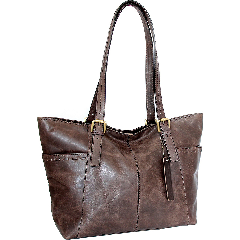 Nino Bossi Olivia Tote Chocolate - Nino Bossi Leather Handbags - Handbags, Leather Handbags
